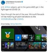 联合国基金会(UNICEF)联合Xbox为抗疫捐款